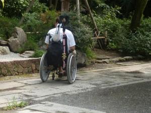 sol des temples et jardins  par toujorus très facile pour rouler en fauteuil