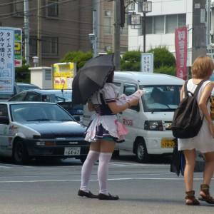 jeune fille habillée en cosplay à Osaka