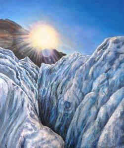 "Tableau ""Le glacier"" peind par Virgine Trabaud,"