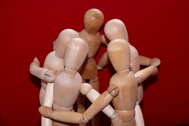 bénévolat et travail d'équipe