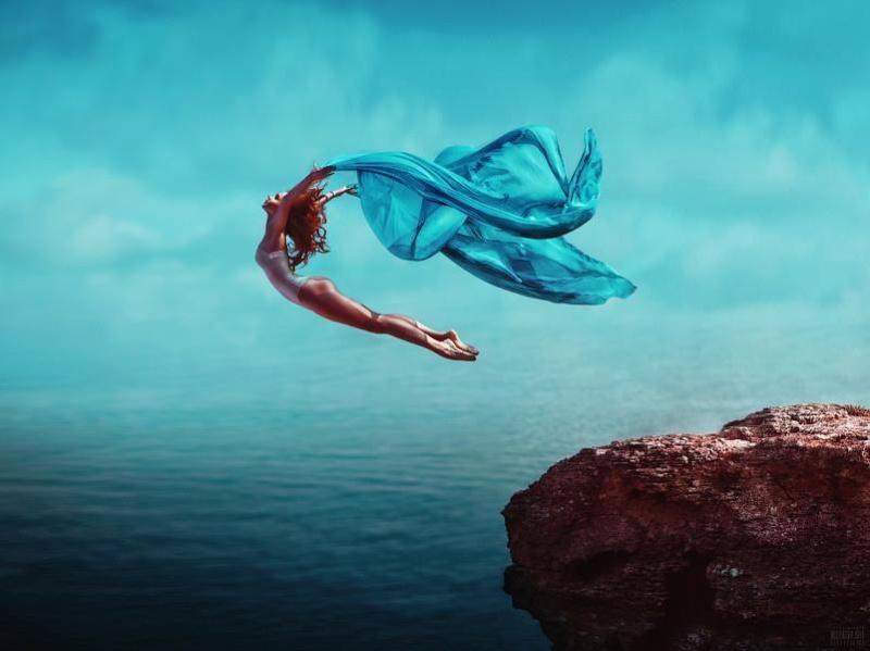 mes conceptions: sauter même sans savoir ce qu'il y a en dessous