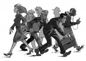 Des gens qui marchent
