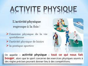 Encart activité physique définition par l'OMS